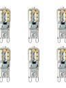 BRELONG® 6шт 2 Вт. 200 lm G9 Двухштырьковые LED лампы 14 светодиоды SMD 2835 Тёплый белый Белый 220-240V