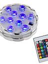 BRELONG® 1pc 2 W Unterwasserleuchten Wasserfest / Ferngesteuert / Dekorativ RGB 5.5 V Schwimmbad 10 LED-Perlen