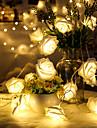 1.5m Fili luminosi 10 LED LED Dip Bianco caldo Decorativo Batterie AA alimentate 1pc