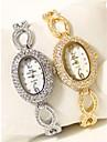 Γυναικεία Βραχιόλι Ρολόι Diamond Watch χρυσό ρολόι Ιαπωνικά Χαλαζίας Ασημί / Χρυσό 30 m Χρονογράφος απομίμηση διαμαντιών Αναλογικό κυρίες Λάμψη Βραχιόλι - Χρυσό Ασημί / Δύο χρόνια / Δύο χρόνια