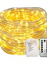 10m String Lights Light Sets 100 LEDs Warm White White Color-changing Waterproof Decorative Batteries Powered 1set