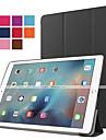 Capinha Para iPad Air 2 Com Suporte Hibernacao / Ligar Automatico Origami Capa Protecao Completa Cor Solida PU Leather para iPad 9.7