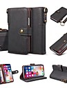 Case For Apple iPhone X iPhone 8 Plus Card Holder Wallet Flip Full Body Cases Solid Colored Hard PU Leather for iPhone X iPhone 8 Plus