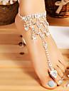 Łańcuszek na kostkę / Pierścionek na palec u nogi Kropla Prosty, Moda Damskie Srebrny Biżuteria Na Ślub / Wyjściowe
