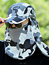 Hat / Pollution Protection Mask Summer Lightweight / Quick Dry / UV resistant Hiking / Fishing / Traveling Unisex Polyester Camouflage