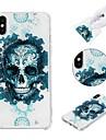 Maska Pentru Apple iPhone X / iPhone 8 Plus / iPhone XS Anti Șoc / Model Capac Spate Cranii Moale TPU pentru iPhone XS / iPhone XR / iPhone XS Max