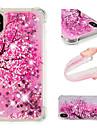 Capinha Para Apple iPhone X / iPhone 8 Plus Antichoque / Liquido Flutuante / Estampada Capa traseira Flor / Glitter Brilhante Macia TPU