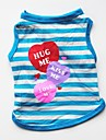 Dogs / Cats / Pets Vest Dog Clothes Striped / Simple / Heart Purple / Red / Blue Cotton Costume For Pets Female Casual / Daily / Keep Warm