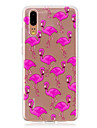 Case For Huawei P20 / P20 lite Translucent Back Cover Flamingo Soft TPU for Huawei P20 / Huawei P20 Pro / Huawei P20 lite