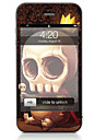 1 pc Skin Sticker for Scratch Proof Skull Pattern PVC iPhone 4/4s