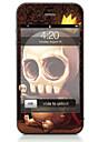 1개 스킨 스티커 용 스크래치 방지 해골 패턴 PVC iPhone 4/4s