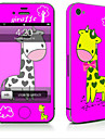 1 pc Skin Sticker for Scratch Proof Animal Pattern PVC iPhone 4/4s