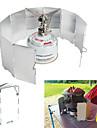 Kampeerbord Kookgerei Lichtgewicht Winddicht Mini voor Aluminium Buitenshuis Wandelen Kamperen Zilver