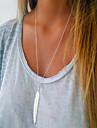 Ogrlice s privjeskom Leaf Shape Perje dame Jednostavan Europska Moda Zlato Pink 70 cm Ogrlice Jewelry Za Dnevno