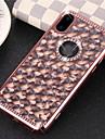 Case Kompatibilitás Apple iPhone X / iPhone 8 Strassz / Galvanizálás Fekete tok Csillogó Puha TPU mert iPhone X / iPhone 8 Plus / iPhone 8