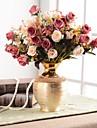 פרחים מלאכותיים 0 ענף קלאסי מסורתי / קלסי ארופאי אגרטל פרחים לשולחן / אחת אגרטל