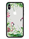 Coque Pour Apple iPhone X / iPhone 8 Plus Motif Coque Plantes / Flamant / Bande dessinee Dur Acrylique pour iPhone X / iPhone 8 Plus / iPhone 8