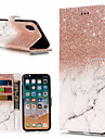 Capinha Para Apple iPhone X / iPhone 8 Plus Carteira / Porta-Cartao / Com Suporte Capa Protecao Completa Marmore Rigida PU Leather para iPhone X / iPhone 8 Plus / iPhone 8