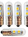 5pcs 1 W 250-280 lm E14 LED 콘 조명 7 LED 비즈 SMD 5050 장식 따뜻한 화이트 / 차가운 화이트 220-240 V