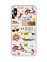 Etui Käyttötarkoitus Apple iPhone X / iPhone 8 Plus Kuvio Takakuori Piirretty / city View Pehmeä TPU varten iPhone X / iPhone 8 Plus / iPhone 8
