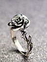 Women\'s Sculpture Ring - Alloy Flower Ladies, Vintage, Romantic, Casual / Sporty Jewelry Silver For Daily Bar 6 / 7 / 8 / 9