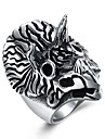 Men\'s Band Ring - Stainless Owl Fashion 8 / 9 / 10 / 11 / 12 Silver For Gift Daily