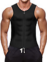 Tailletrainingsvest Body Shaper Hot Sweat Workout Tank Top Afslankende Vest neopreeni Rits Gewichtsverlies Tummy Fat Burner Yoga Training&Fitness Gym training Voor Heren Buik