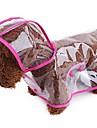 כלבים / חתולים / חיות קטנות ופרוותיות מעיל גשם בגדים לכלבים אחיד / פשוט כתום / פוקסיה / ירוק עור PU תחפושות עבור חיות מחמד נקבה ספורט ושטח / שקוף