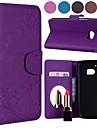 Custodia Per HTC M9 / M8 Porta-carte di credito / Con chiusura magnetica / Fantasia / disegno Integrale Tinta unita / Farfalla Resistente pelle sintetica per HTC M8 / HTC M9 / HTC 10