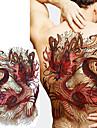 1 pcs dočasné tetování Totemová řada / Zvířecí řada Hladká nálepka / Bezpečnost Tělesné Arts zpátky / Deskové dočasné tetování