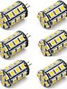 2w g4 светодиодный ламповый би-контактный свет 24 smd 5050 dc 12v теплый / холодный белый для домашнего автомобиля (6 шт)