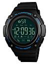 SKMEI Pánské Sportovní hodinky Náramkové hodinky Digitální hodinky japonština Digitální Z umělé kůže Černá / Jetelová 50 m Bluetooth Alarm Kalendář Digitální Luxus Módní - Zelená Modrá Zlatá Jeden