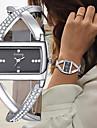 Women\'s Bracelet Watch Wrist Watch Quartz Chronograph Creative New Design Alloy Leather Band Analog Bangle Elegant Black / White - White Black One Year Battery Life / SSUO 377