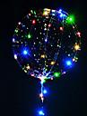 3m 30led lamp string led luminosi palloncini trasparenti elio palloncini buon compleanno decorazioni per feste bambini matrimonio palloncini led natale nuovo anno
