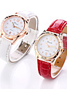Women\'s Wrist Watch Quartz Casual Watch Leather Band Analog Fashion Elegant Black / White / Red - Black Red Pink