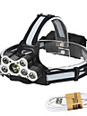 Headlamps / Lamp LED 7000 lm 6 Mode with USB Cable Waterproof / Fastness / Portable Camping / Hiking / Caving / Everyday Use / Cycling / Bike Black