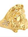 Rich Long 1kpl 18K Kultapäällystetty Gold Plated Metalliseos ulko- varten Kulta / Miesten / Band Ring