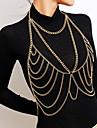 Single Strand Body Chain Hyperbole, Bikini, Fashion Women\'s Gold / Silver Body Jewelry For Carnival / Bikini