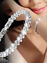 Pentru femei Lantul de tenis Bratari Vintage Bratara de cristal - Iubire Lux, La modă, Modă Brățări Auriu / Argintiu / Roz auriu Pentru Nuntă Logodnă