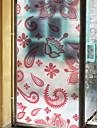 Window Film & Stickers Decoration Chinoiserie Geometric PVC(PolyVinyl Chloride) Window Sticker / Anti-Glare