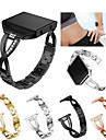 Watch Band for Fitbit Blaze Fitbit Sport Band / Jewelry Design Stainless Steel / Ceramic Wrist Strap