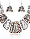 Γυναικεία Κοσμήματα Σετ Μοντέρνο, κυρίες, Βίντατζ, Etnic Περιλαμβάνω Κρεμαστά Σκουλαρίκια Κοσμήματα κολιέ Χρυσό / Ασημί Για Απόκριες Μασκάρεμα / Cercei