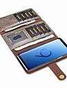 Etui Til Samsung Galaxy S9 Plus / S9 Kortholder / Stoetsikker / Flipp Heldekkende etui Ensfarget Hard PU Leather til S9 / S9 Plus / S8 Plus