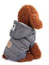 Chiens Manteaux Vetements pour Chien Couleur Pleine / Classique / Britannique Gris / Bleu Coton Costume Pour les animaux domestiques Homme Garder au chaud