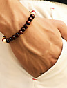 Men\'s Beads Bead Bracelet Wooden Simple Casual / Sporty Bracelet Jewelry Black / Brown / Red For Daily Street Going out