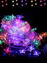 brelong ha condotto le stringhe chiare variopinte impermeabili della decorazione di festa 1 pc