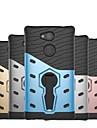 Etui Käyttötarkoitus Sony Xperia XZ1 Compact / Xperia XZ2 Compact Iskunkestävä / Tuella Takakuori Panssari Kova PC varten Xperia XZ2 Compact / Xperia XZ2 / Xperia XZ1 Compact