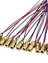 10 x tete de module de diodes a points laser wl rouge 650nm 6mm 5v 5mw paquet de 10