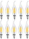 YWXLIGHT® 10pcs 6 W 500-600 lm E14 Ampoules Bougies LED / Ampoules a Filament LED C35 6 Perles LED COB Blanc Chaud / Blanc 220-240 V