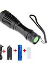 Φακοί LED LED LED 1 Εκτοξευτές 2000 lm 5 τρόπος φωτισμού με μπαταρία και φορτιστή Ρυθμιζόμενη Εστίαση Κατασκήνωση / Πεζοπορία / Εξερεύνηση Σπηλαίων Καθημερινή Χρήση Ποδηλασία